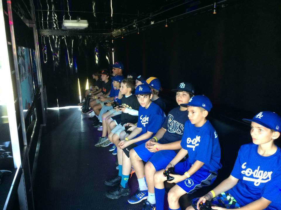 Baseball Team video game party bus at Nect Level Gaming, Maryland